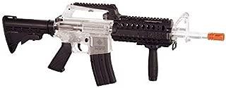 crosman stinger r37 spring powered tactical airsoft rifle, clear/black(Airsoft Gun)
