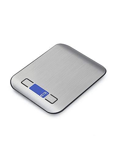 Báscula de cocina electrónica recargable, báscula de café de cocina, 5 kg de peso, báscula de acero inoxidable para hornear