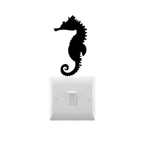 DKISEE Novedad luz interruptor de caballito de mar / ordenador portátil/coche etiqueta engomada 6'