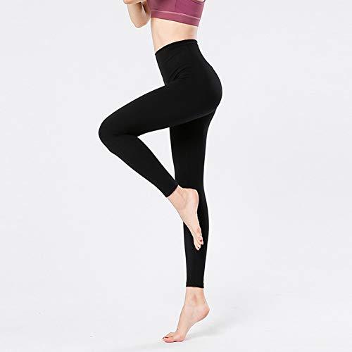 Nuevos Pantalones de Yoga Desnudos Pantalones de Baile de Fitness para Mujer Pantalones de Nylon de Cintura Alta elásticos de Secado rápido Pantalones Deportivos Ajustados