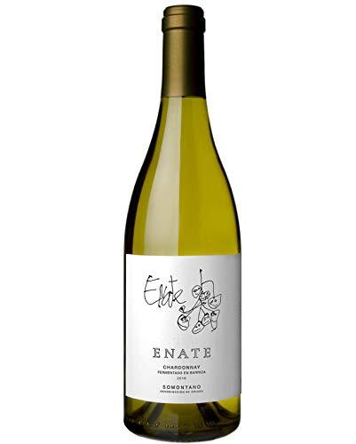 Bodega Enate Chardonnay Fermentado en Barrica - Añada 2019, Vino Blanco - D.O. Somontano - Botella de 75cl - Chardonnay de Aroma Complejo y Exuberante - Crianza en Barrica - Finos Matices