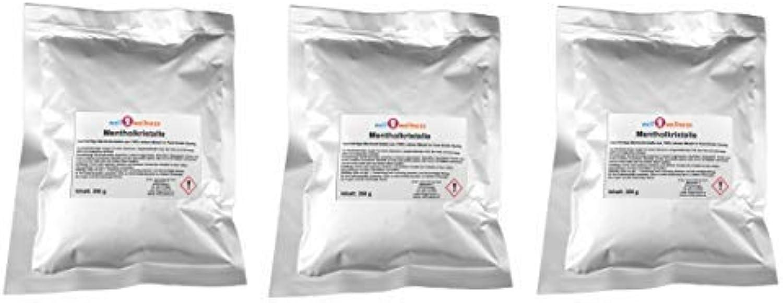 Well2wellness Menthol Crystals Intensive 750g (3 x 250 G Aluminum Bag) - Made of 100% % Pure Mint Oil