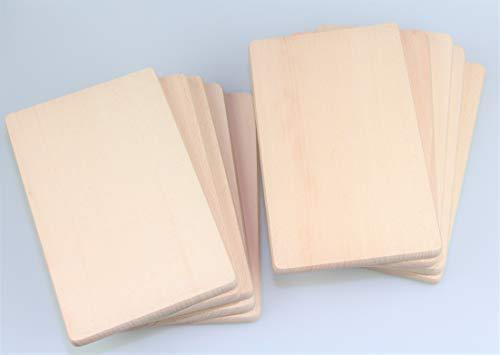 bas Frühstücksbrettchen Holz, Natur Buche unbehandelt, Holzbrettchen Küchenbrett Brot Küchenutensilien (10)