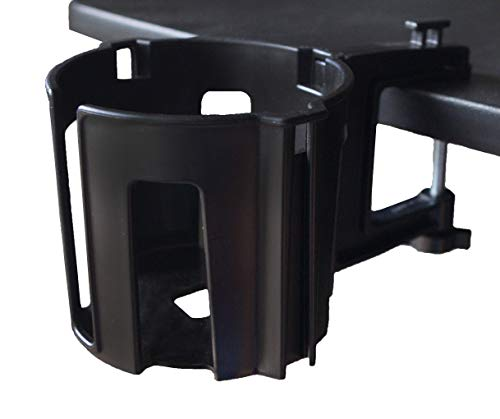 Cup-Holster - The Best Anti-Spill Cup Holder for Your Desk or Table (Black, 1)