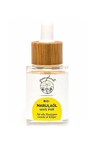 green planet COSMETICS | Kaltgepresstes, Bio Marulaöl | Gesichtsöl & Körperöl |100% Natürlich | Spendet Intensive Feuchtigkeit | Vegan | 30ml