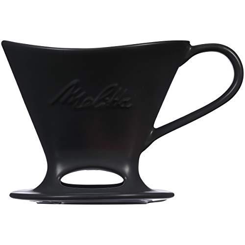 Melitta 1 Cup Porcelain Pour-Over Cone Coffeemaker - Matte Black
