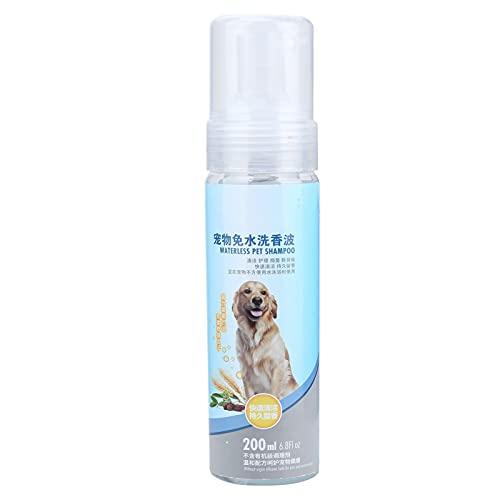 Hoseten Champú sin Enjuague para Mascotas, Productos para el Aseo de Perros Champú Suave para Mascotas con extracto de Avena para el Aseo de Mascotas