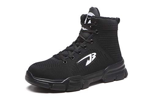 Aizeroth-UK Unisex Hombre Mujer Zapatillas de Seguridad con Punta de Acero Antideslizante...