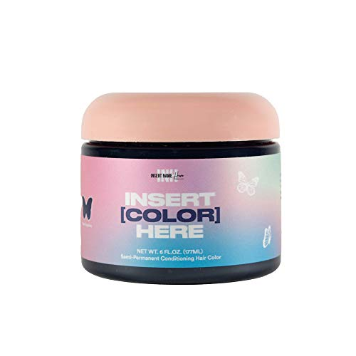 INH Insert Color Here - Semi-Permanent Hair Color, Vegan Deep Conditioning Blue Hair Dye - Royal Sapphire 6 oz