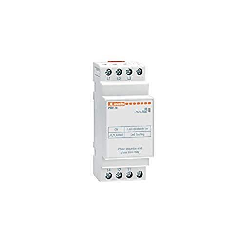 Relé de protección voltimétrico trifásico sin neutro, secuencia y falta fases, 380÷600V AC, 4 x 7,5 x 9,5 centímetros, color blanco (Referencia: PMV20A600)