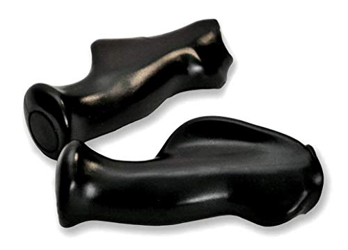 Upgraded Handles for Life Crutch | Ergonomic & Angled Design to Reduce Fatigue and Prevent Nerve Damage |Hard Rubber | Black |2 Pack