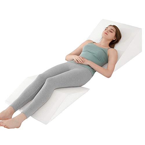 "JOYPEA Wedge Pillow Set 3 in 1 Foam Bed Wedge Pillow, Reading Pillow, Back Support Wedge Pillow for Back and Legs Support, Help for Back Pain, Leg Pain, Pregnancy, Joint Pain,8"" x 22"" x 24"""