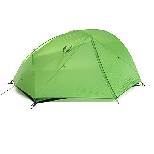 Carpa De Jardín Carpa Ultraligera para 2 Personas Carpa De Camping Star River Mejorada 20D Silicona con Falda De Nieve Carpa con Alfombra Gratis 20D-Verde