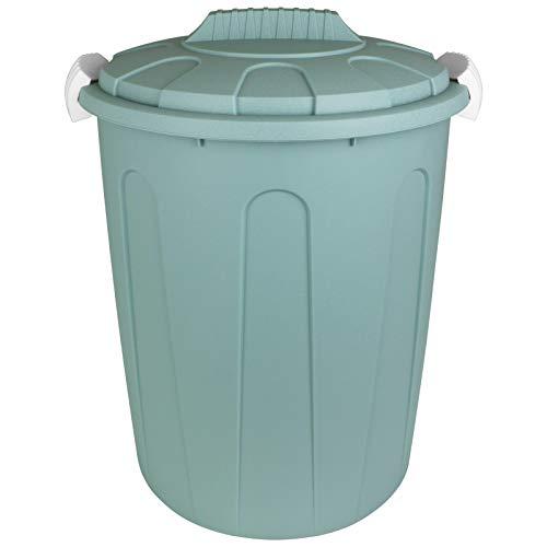 TW24 Maxitonne mit Deckel 23L mit Farbwahl Pastell Farben Windeleimer Abfalleimer Kunststoff Mülltonne Abfalltonne Mülleimer Müllsammler (Pastell Grün)
