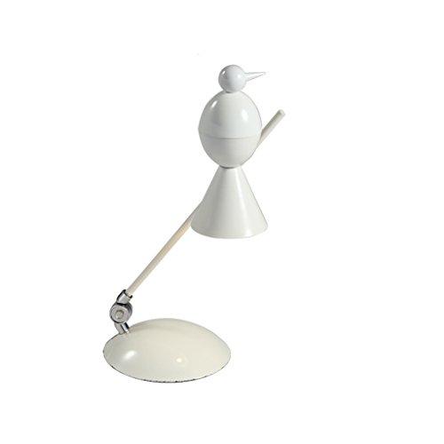 YONGJUN Personnalité Table Lampe-Bureau Lampe De Bureau Salon Chambre Bar Moderne Minimaliste Personnalité Industriel Vent Rétro En Fer Forgé Lampe De Bureau (Color : White)