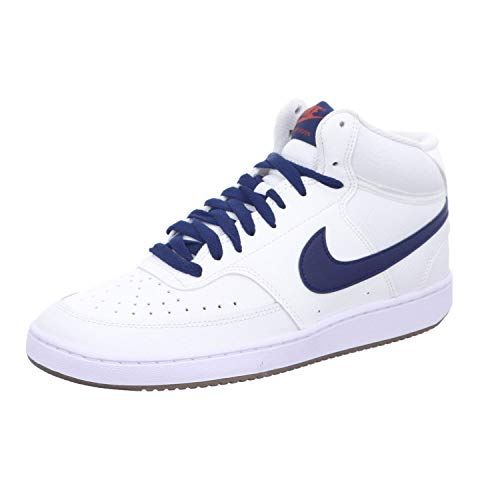 Nike Court Vision Mid, Zapatillas de bsquetbol Hombre, Summit White Firewood Orange White Blue Void, 42 EU