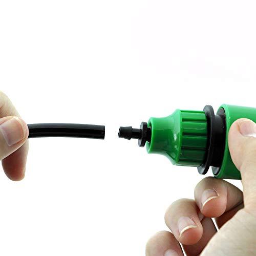 1 adaptador para manguera de jardín de 4/7 mm, 8/11 mm, conector rápido para grifo de jardín, riego por goteo, diámetro interior de 4/8 mm, junta de tubería