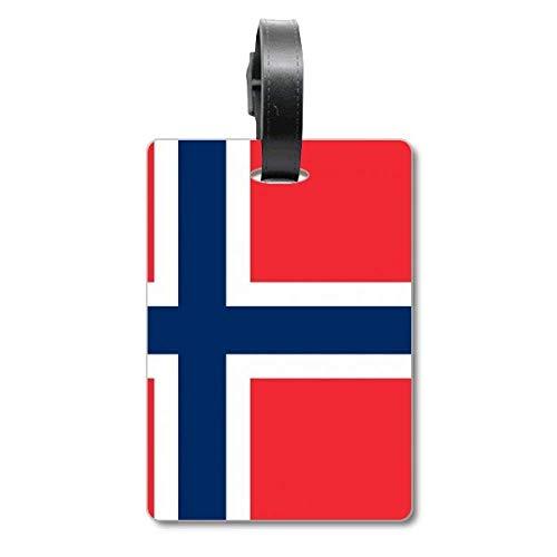 Etiqueta de identificación para Maleta de la Bandera Nacional de Noruega