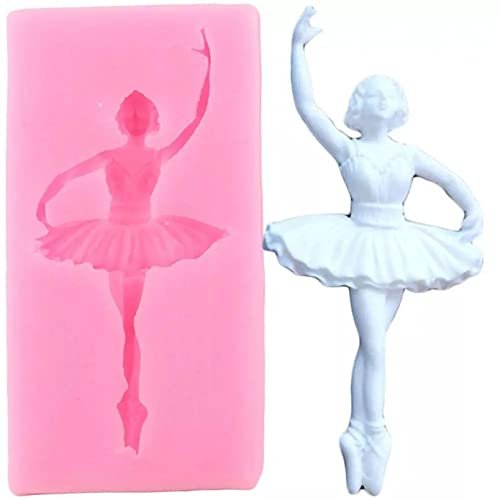 ANGYANG Dancer Silicone Mold Girl Fondant Molds DIY Baby Birthday Cake Decorating Tools Chocolate Gumpaste Candy Polymer Clay Moulds
