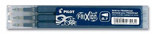 Pilot Frixion Tintenroller-Ersatzminen radierbar 3 Stück (3er Set, blauschwarz)