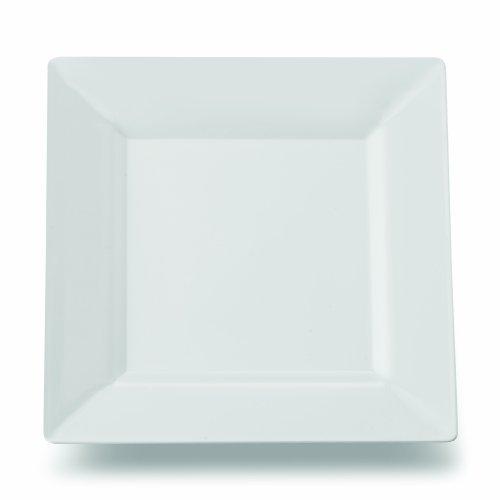 Square Plastic Dessert Salad Plates White 6.5 Inch 120ct Elegant Wedding Plate by Yoshi