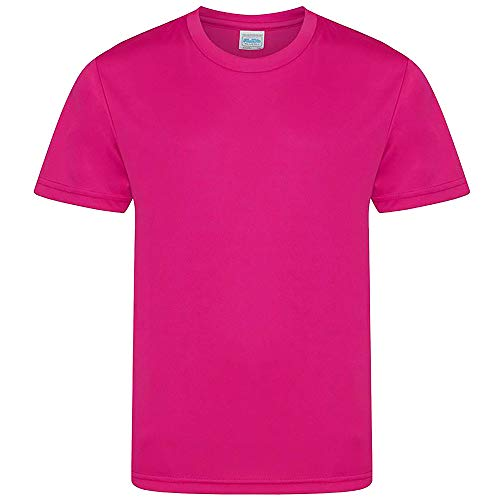 AWDis - Camiseta Infantil Modelo Cool (12/13 Years) (Rosa chillón)