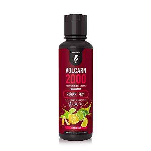 InnoSupps Volcarn 2000 - Liquid L-Carnitine, Boost Energy, Caffeine Free, No Artificial Sweeteners, 32 Servings