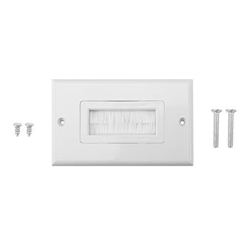 Bürstenwandplatte, Wandkabel Durchgang Einsatz für Drähte, Wandsteckdose für HDTV, HDMI, Heimkinosysteme