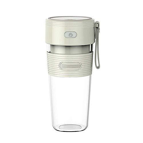 Exprimidor portátil redondo Exprimidor portátil USB Exprimidor de frutas recargable sin BPA Pequeña Juicer Crushe'd Ice Milkshake Blender Mini Juicer eléctrico Copa (verde) JoinBuy.R