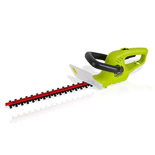 Corded Electric Handheld Hedge Trimmer - 4 Amp Electrical High Powered Hand Garden Trimmer Tool w/ 18 Inch Blade, Trims Bush, Shrub, Grass, Small Tree Branch - SereneLife