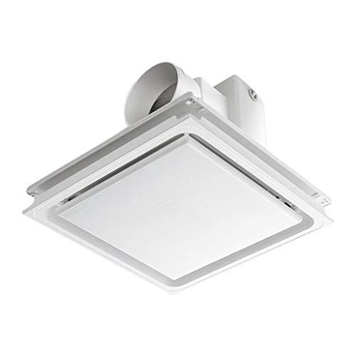 LITING Ventilador de ventilación doméstico Ventilación De Techo Integrado Extractor De Aire De Extractor De Baño Cocina De Aluminio Escudete 30 * 30cm