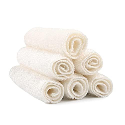 6pcs fibra de bambú cocina plato paño limpieza plato toalla antiadherente aceite pelusa platos limpieza magia limpieza bambú toallitas trapos