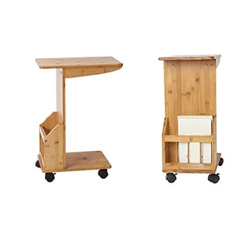 jinrun Decorativa Mesas de Centro Mesa de Centro nórdica Simple multifunción Estante de té móvil Sala de Estar Mesa de sofá Mesa de Noche Mesa de Libro Mesa Auxiliar (Color : B)