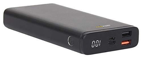 revolt Powerbank 12 Volt: Powerbank mit Quick Charge 3.0 und USB Typ C PD, 20.000 mAh, 3 A, 18 W (Notebook Powerbank)