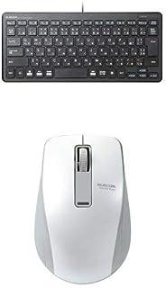 エレコム 有線超薄型ミニキーボード TK-FCP096BK & エレコム Bluetooth(R)4.0 BlueLEDワイヤレスマウス M-BT19BBWH セット