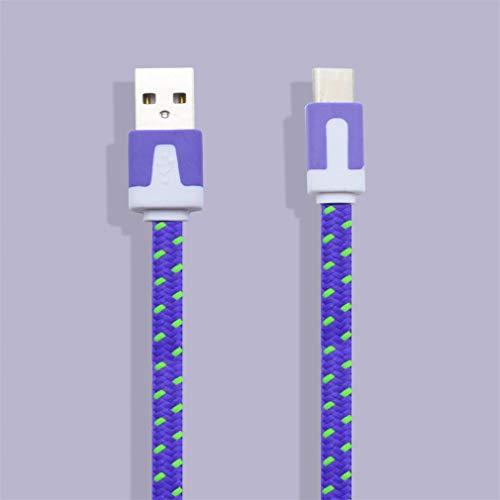 Hanone Cable de Carga USB 3.1 Tipo C Trenzado de Nailon de 3M Cable de sincronización de Datos para Nexus 5X / 6P Morado 3M