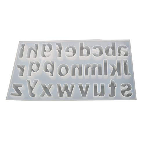 Shefii Creative DIY Crystal Epoxy Mold Lowercase Letter Molds, Jewelry Making Mould,