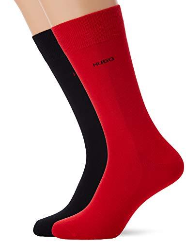 HUGO Herren 2P RS Uni CC Socken, Mehrfarbig (Open Miscellaneous 962), 39/42 (Herstellergröße: 39-42) (2er Pack)