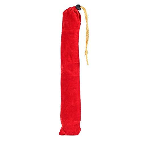"""Bastón ciego plegable, bastón de aluminio de 50""""con cinta reflectante roja, mango de goma y correa para la muñeca"""