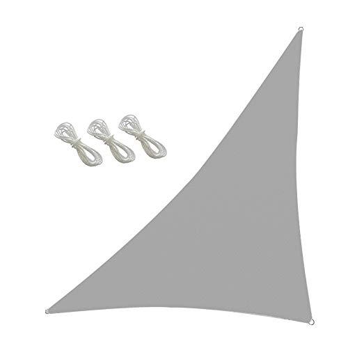 æ— Toldo triangular para jardín, 3,6 x 3,6 x 3,6 m x 3,6 m, con 3 cuerdas, toldo para exteriores, jardín, patio, patio, camping, etc