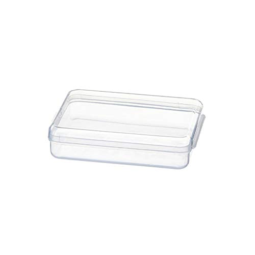 Masken Aufbewahrungsbox Tragbare Flache Kunststoffbox Reinigungsbox Aufbewahrungstasche Aufbewahrungsclips Aufbewahrungsbehälter für Reisen im Freien (S)