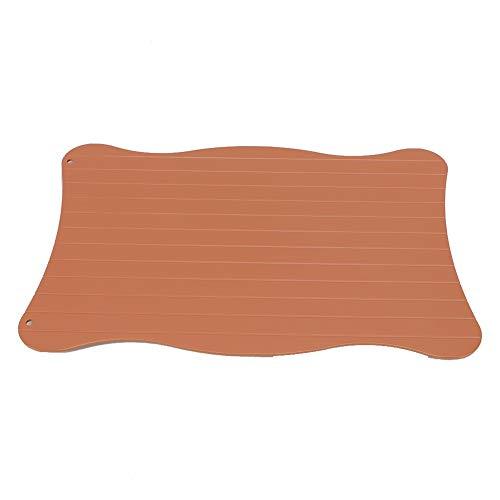 Eastbuy Auftauplatte - Schnellauftauplatte aus Aluminium für Gefrorene Lebensmittel, Auftauplatte zum Auftauen von Fleisch (29,5 x 20,5 x 0,3 cm)