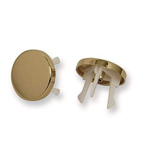 Acquastilla, 116799- Embellecedor dorado para rebosadero de lavabo