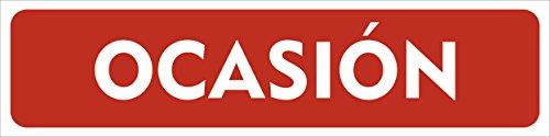 Cartel Vehículo en Ocasión 60x15cm | Cartelería Coche en Ocasión Fabricado en Polipropileno | Cartel Resistente con 4 Ojales de Policarbonato | Ideal para Concesionarios o Particulares