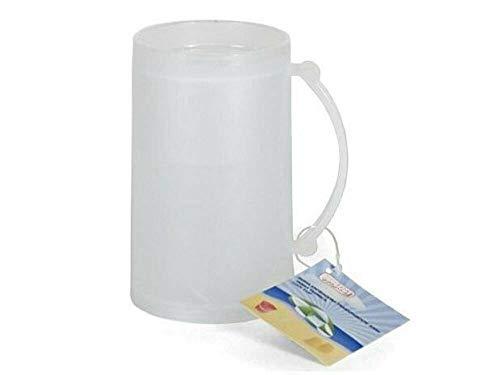 azorex Jarra Enfriadora Vaso Hielo Taza de Cerveza para Congelar Taza de Helado Plástico 15 cm (1 Unidad)