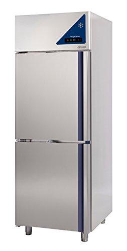 Gastlando - Premium Edelstahl Gewerbe-Kühlschrank für Fisch - Umluft - 700 Liter - 2 Edelstahltüren -2° bis +10 °C