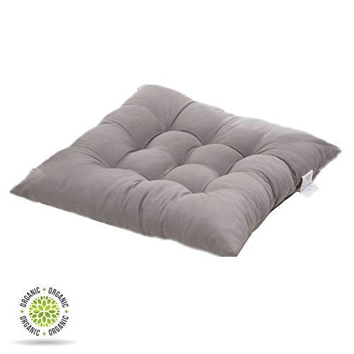 DOTBUY Cuscino da Meditazione Seggiolino Cuscino Lounge da Esterno Cuscino per mobili e Arredamento da Giardino Federa 40 * 40cm Colore Solido Resistente 100% Imbottiti (40 * 40cm,Grigio)
