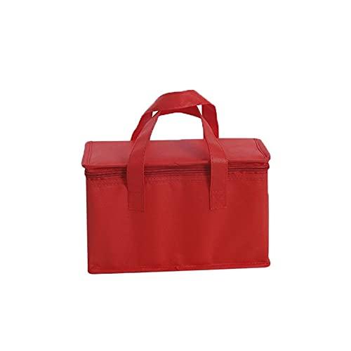 LCISCOUP Picknicktasche 1 Stück wasserdicht Mittagessen Kalt Aufbewahrungstasche, Faltbare Isolationsbeutel, Nahrungsmittelisolierbeutel, Getränketräger, isoliertes Essen (Color : Red, Size : S)