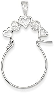 Best white gold charm holder necklace Reviews