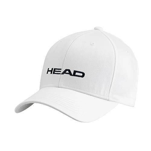 HEAD Promotion cap, Berretto Unisex Adulto, Bianco, Taglia unica